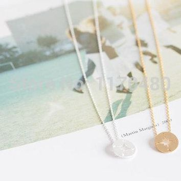 2017 New Fashion Dainty Gold Compass Pendant Necklaces for Women Unique Girl Wedding Gifts Engagement Lovely Necklace -N089