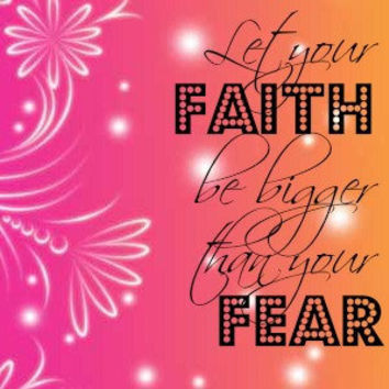 Let Your Faith be Bigger Than Your Fear Pendant Tray Necklace or Keychain