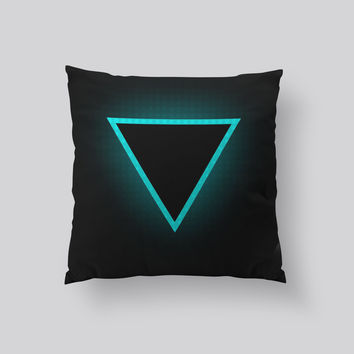 Throw Pillows for Couches / Triangle 2010 by Leftfield_Corn