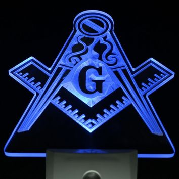 Masonic Day/Night Sensor LED Light Sign [3 colors]