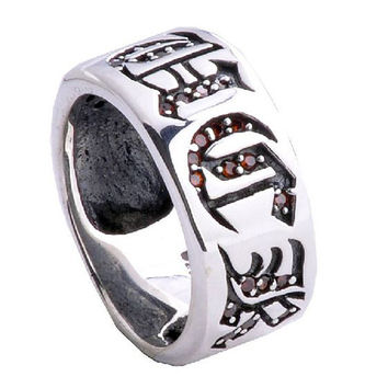 Men's Punk Rock Gothic Jewelry F.U.C.K. Engraved Ring for Guy's Fashion-Size 10