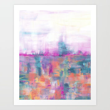 Improvisation 50 Art Print by ViviGonzalezArt