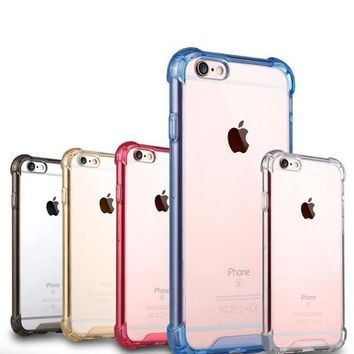 Transparent Crystal Clear Soft Gel TPU cover skin Shockproof Bumper Case for Apple iPhone 5 5s SE 6 6s plus 7 8 PLUS cases