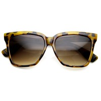Womens Oversize Flat Top Cat Eye Designer Sunglasses 8967