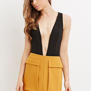 Flap Pockets Mini Skirt