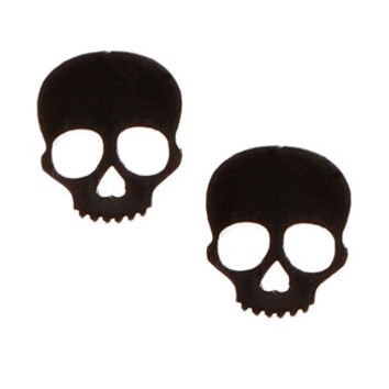 Dark and Deadly Skull Stud Earrings