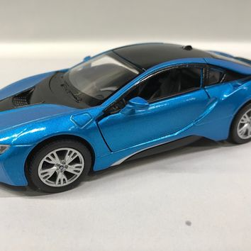 Bmw i8 2 Doors Coupe 1:36 Scale KT.5379 Blue