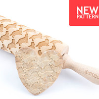 King charles spaniel - Embossed, engraved rolling pin for cookies