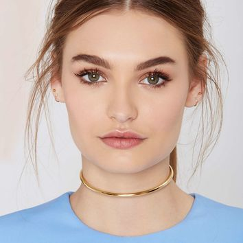 Anita K Barred for Life 18K Gold Collar Necklace