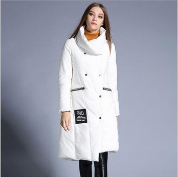 Women Winter Coat 2017 New Casual Down Jacket Long Fashion Women Down Jacket Thick Warm Winter Coat High-quality Jacket AB197