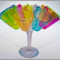 Plastic shot glasses. Many styles and sizes, Custom imprinting available.