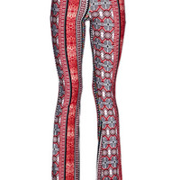 Raga Red Floral Print Bell Bottom Pants