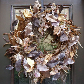 Fall Wreath, Feather Wreath, Christmas Wreaths, Modern Wreath, Door Wreaths, Leaves