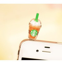 Starbucks Style Anti-Dust Earphone Jack for iPhone 4 and 4S from 1Point99.com