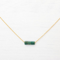 African Jade Bar Necklace // Choker // Dainty Choker // Gold Layering Necklace // Dainty Green Necklace // Dainty choker necklace // Tiny