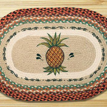 Pineapple Oval Patch Rug
