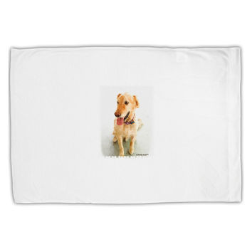 Golden Retriever Watercolor Standard Size Polyester Pillow Case
