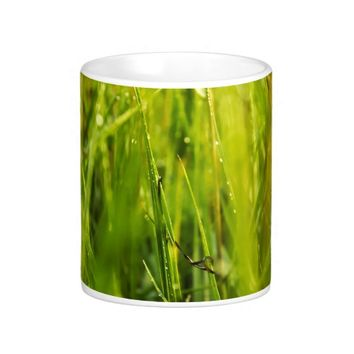 colourful green natural outdoor abstract design coffee mug