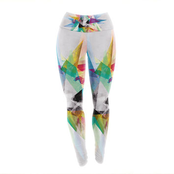 "Mareike Boehmer ""Colorful"" Rainbow Abstract Yoga Leggings"