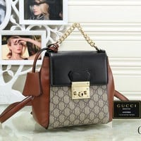 Gucci New Fashion Women Leather Shoulder Bag Handbag Backpack