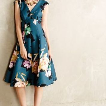 Baikal Dress by Moulinette Soeurs Green Motif