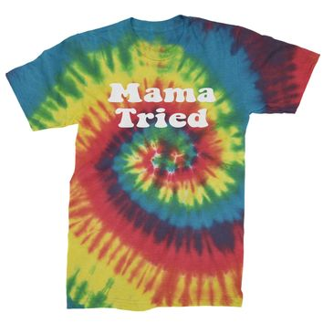 Mama Tried Country Music Mens Tie-Dye T-shirt