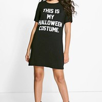 Emily Halloween Costume Tshirt Dress