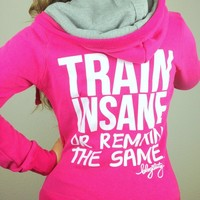 oGorgeous Gym Boutique - TRAIN INSANE Skinny Zip Hoodie in Magenta