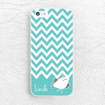 Tiffany Blue chevron bird Phone Case for iPhone 6, 6 plus, Sony z1 z2 z3, LG g2 g3 nexus 6, Moto G Moto X, HTC personalized name custom case