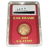 Titanic year 1912 US Penny Presentation in Display Piece prop