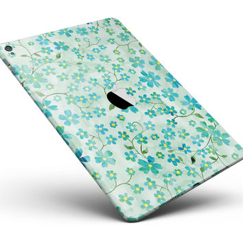 "Flowers with Stems over Light Green Watercolor Full Body Skin for the iPad Pro (12.9"" or 9.7"" available)"