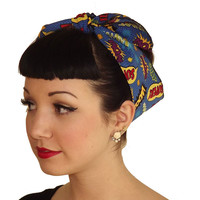 Blue Super Hero Head Wrap Scarf