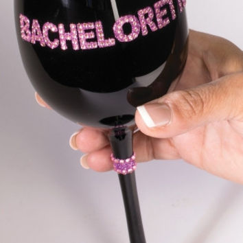 Black Bachelorette Wine Glass