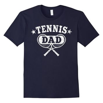 Mens Tennis Dad Shirt: Proud Tennis Father Of Son- Daughter Tee