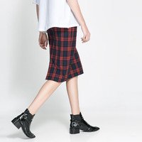 CHECKED PENCIL SKIRT - Skirts - Woman | ZARA United States