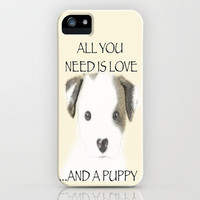 Love and a puppy iPhone Case by Veronica Ventress | Society6
