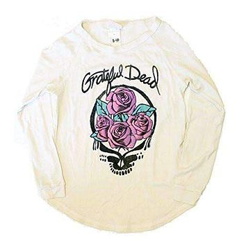 Junk Food Girls Grateful Dead Skull and Roses Long Sleeve Shirt