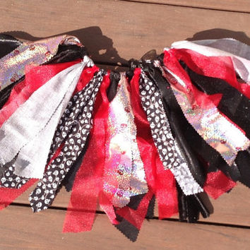 Pirate costume - Pirate Princess TuTu - Halloween Tutu, shabby  chic fabric and tulle tutu skirt - Choose your size