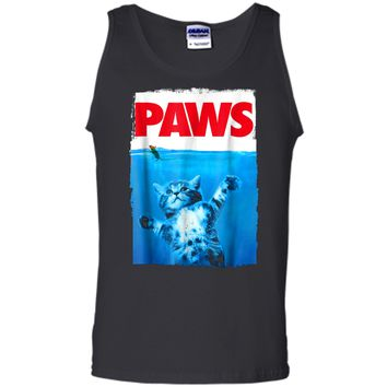 Paws Cat and Mouse  Cute Funny Cat Lover  Tank Top