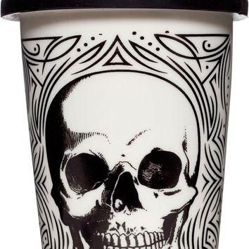 Skull Tumbler in White | Blame Betty