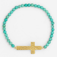 Cara Cross & Bead Stretch Bracelet | Nordstrom