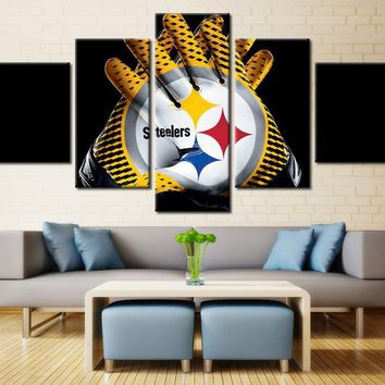 HD printed painting Panel Canvas Wall Art  Pittsburgh Steelers Gloves Poster