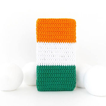 Irish Flag iPhone 7+ cover, Samsung S8 plus soft case, HTC U Ultra sleeve, vegan Pixel XL sock, Irish LG G6 cozy, Nook Glowlight plus cover