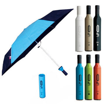 red wine windproof rain tight creative umbrella for sale rain geartubebottleportablebeer = 1945999684