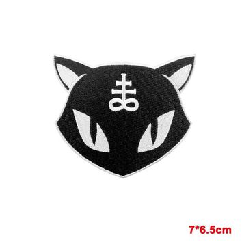 Leviathan Cross Occult Black Cat Sew On Patch