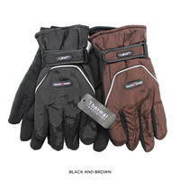 2 Pairs: Men's Waterproof Fleece-Lined Winter Gloves - Assorted Colors