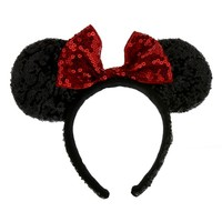 Check Out the Minnie Bow Sequined Ears Headband | Disneyland Resort