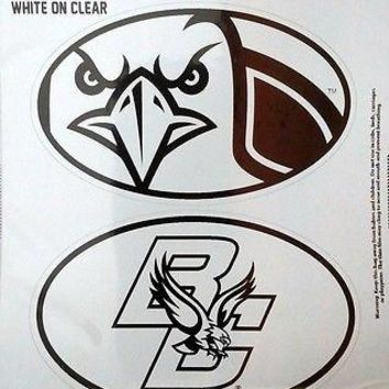 Boston College Eagles 2-Pack EURO STYLE Oval Home Auto Decals University of
