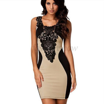 Dress 5 Colors 2017 New Black Embroidery Bodycon Women Summer Dress Sexy