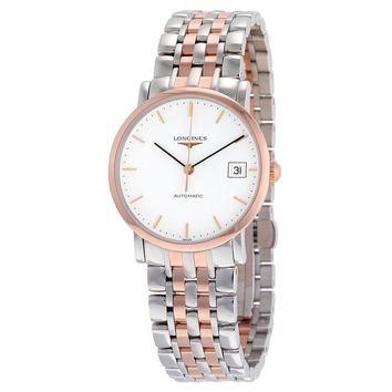 Longines Elegant Automatic White Dial Mens Watch L48095127